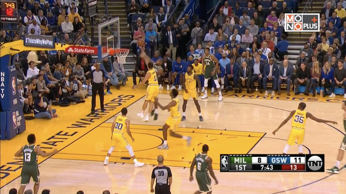 [Highlight] Milwaukee Bucks VS Golden State Warriors
