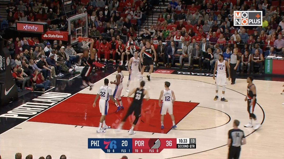 [Highlight] Philadelphia 76ers VS Portland Trail Blazers