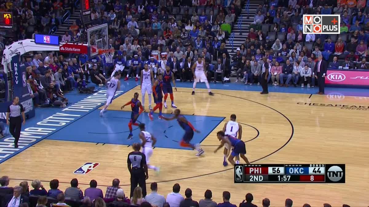 [Highlight] Philadelphia 76ers VS. Oklahoma City Thunder