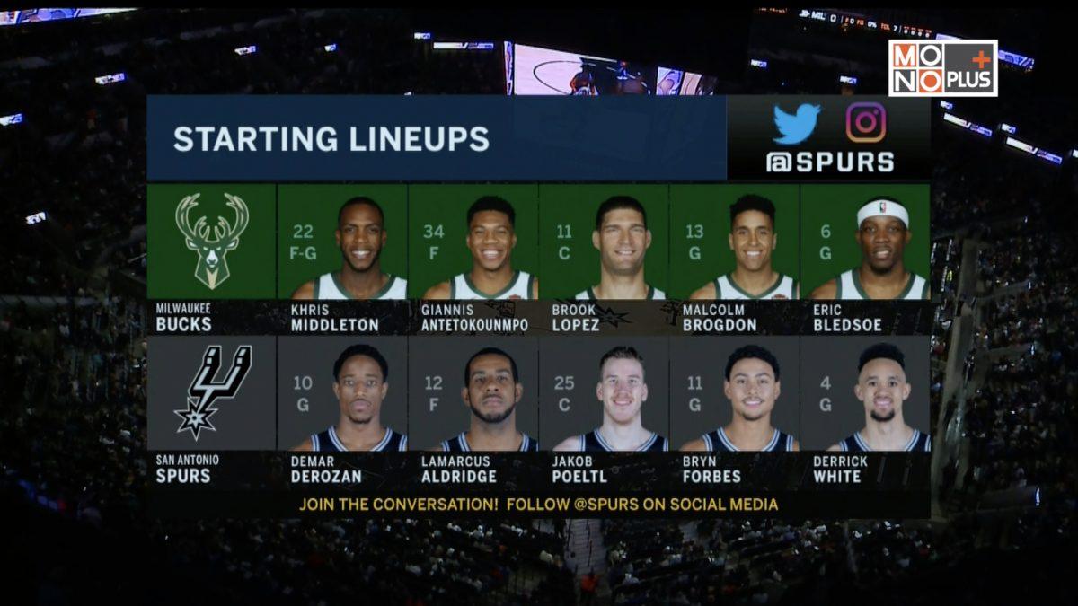 [Highlight] Milwaukee Bucks VS. San Antonio Spurs